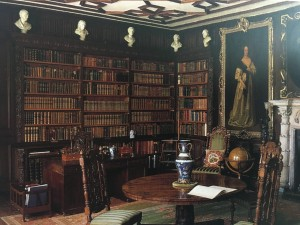 Photo of the Vyne library, National Trust