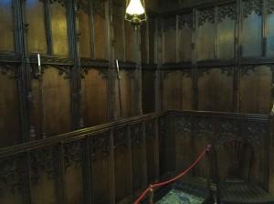 Photo of linen fold paneling