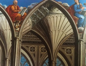Photo of Trompe l'oeil in the chapel National Trust picture