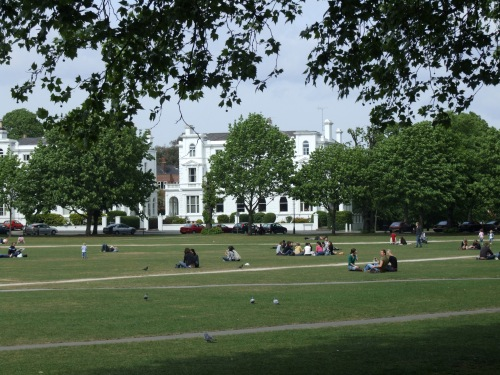 Photo of Richmond Green The Churchills lived here.