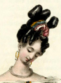 Exaggerated updo from 1818