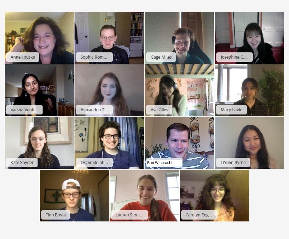Image of the Adumbration class of 13 students and teacher Ben John Wiebracht.