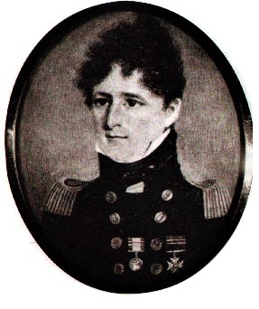 Black and white image of Jane Austen's sailor brother