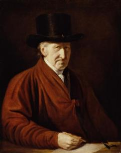 Self portrait of Benjamin West the year before his death. Public Domain image.