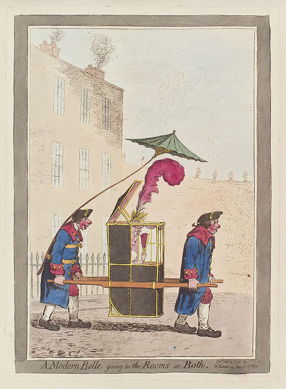 A modern belle going to the Rooms at Bath-Gillray